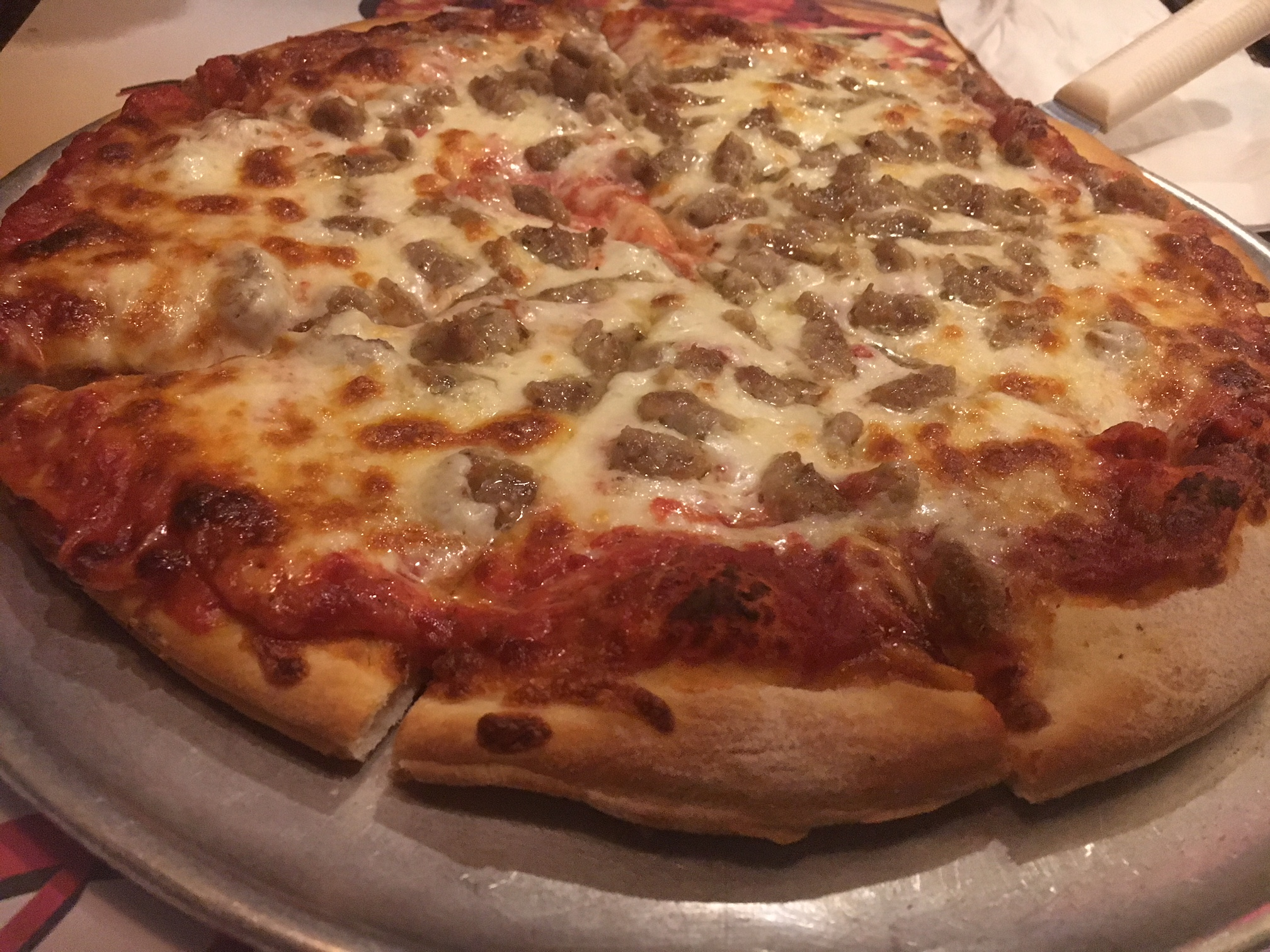 the DeLuca's sausage pie